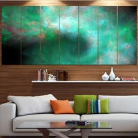 Designart 'Perfect Clear Blue Starry Sky' Abstract Wall Artwork