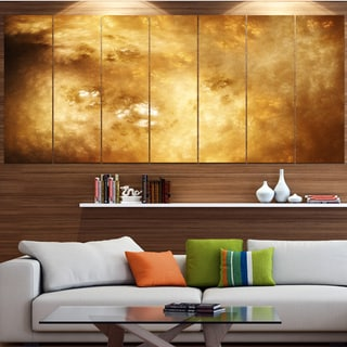 Designart 'Perfect Brown Starry Sky' Abstract Wall Artwork