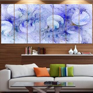 Designart 'Light Blue Fractal Glass Texture' Abstract Artwork on Canvas
