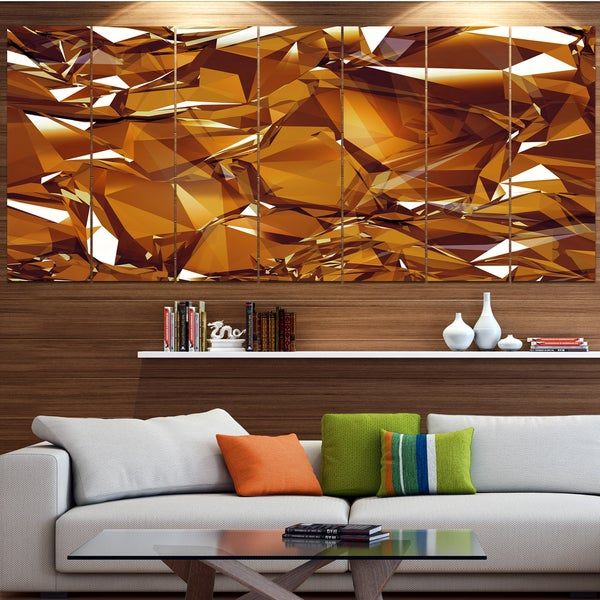 Shop Designart '3D Gold Crystal Background' Abstract