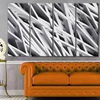 Designart 'White Geometric Wallpaper' Abstract Wall Artwork