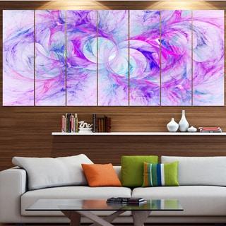 Designart 'Light Purple Fractal Texture' Abstract Artwork on Canvas