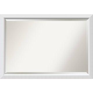 Bathroom Mirror Extra Large, Blanco White 40 x 28-inch