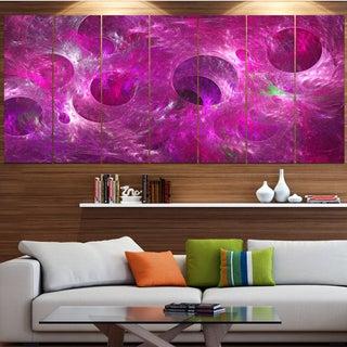 Designart 'Dark Pink Fractal Glass Texture' Abstract Artwork on Canvas