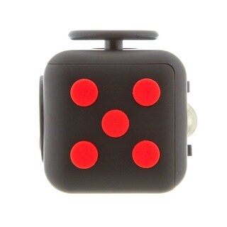Fidget Black & Red Cube Relieves Stress And Anxiety