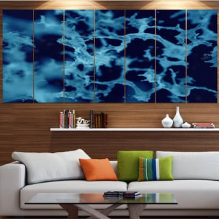 Designart 'Cloudy Abstract Blue Texture' Abstract Artwork on Canvas