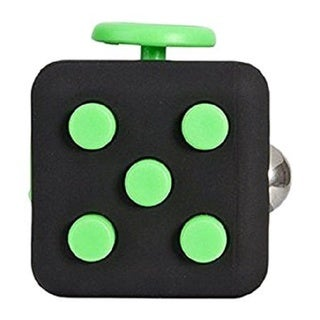 Fidget Black & Green Cube Helps Relieve Stress & Anxiety