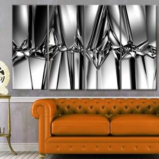 Designart 'Black White Crystal Background' Abstract Artwork on Canvas