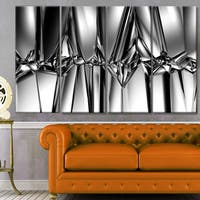 Designart 'Black White Crystal Background' Abstract Artwork on Canvas