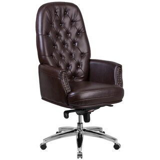 High Back Traditional Tufted Multifunction Executive Swivel Chair