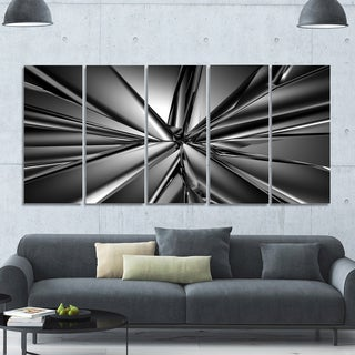 Designart 'Futuristic Crystal Background' Abstract Artwork on Canvas