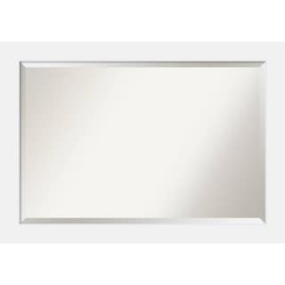 Bathroom Mirror Extra Large, Fits Standard 30-inch to 48-inch Cabinet, Corvino White 41 x 29-inch