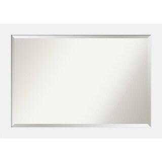 Bathroom Mirror Extra Large, Corvino White 41 x 29-inch