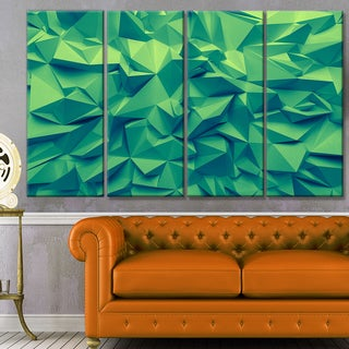 Designart 'Trendy Emerald Green Background' Abstract Artwork on Canvas