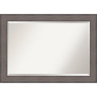 Bathroom Mirror Extra Large, Country Barnwood 42 x 30-inch - Grey - 29.25 x 41.25 x 0.741 inches deep
