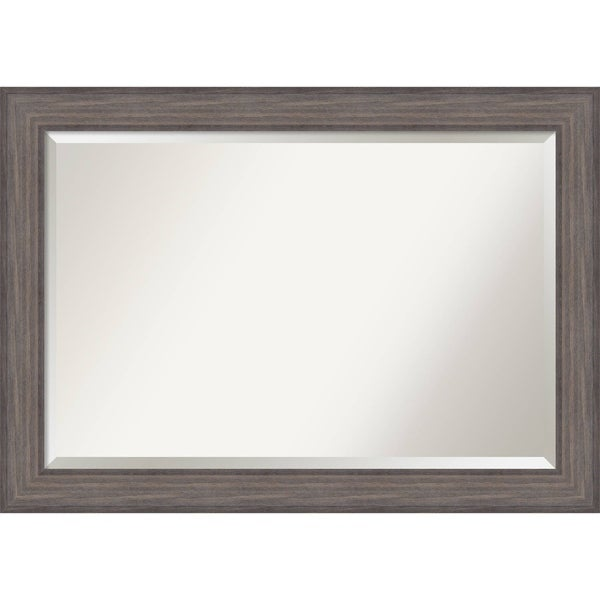 Bathroom Mirror Extra Large, Country Barnwood 42 x 30-inch