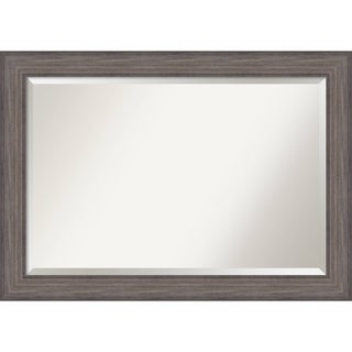 Bathroom Mirror Extra Large, Fits Standard 30-inch to 48-inch Cabinet, Country Barnwood 42 x 30-inch