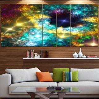 Designart 'Golden Cosmic Black Hole' Abstract Art on Canvas