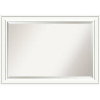 Bathroom Mirror Extra Large, Craftsman White 41 x 29-inch - 28.88 x 40.88 x 0.889 inches deep