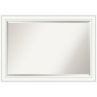 Bathroom Mirror Extra Large, Craftsman White 41 x 29-inch