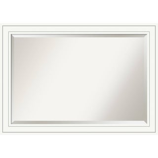 Bathroom Mirror Extra Large, Craftsman White 41 x 29-inch