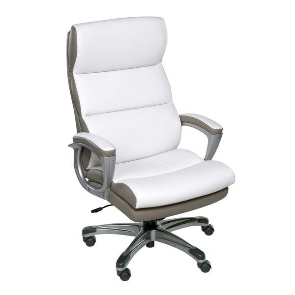 OneSpace 60 583008 Roosevelt High Back Two Tone Executive Chair With Padded  Armrests,