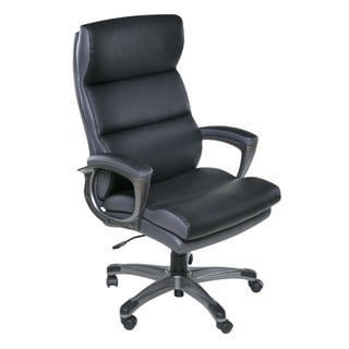 Roosevelt High Back Two-Tone Black Executive chair with padded armrests