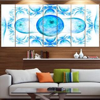 Designart 'Blue Exotic Fractal Pattern' Abstract Art on Canvas
