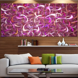 Designart 'Pink Watercolor Fractal Pattern' Abstract Art on Canvas