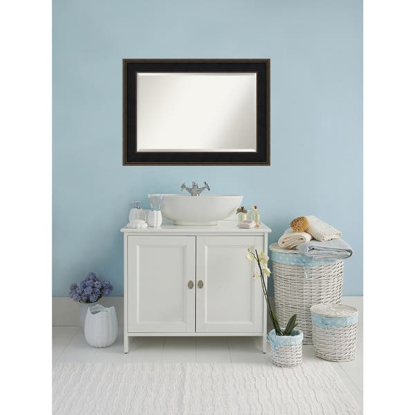 Shop Bathroom Mirror Extra Large Mezzanine Espresso 44 X 32 Inch