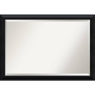 Bathroom Mirror Extra Large, Nero Black 40 x 28-inch