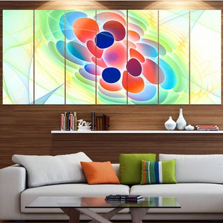 Designart 'Fractal Virus under Microscope' Abstract Wall Art Canvas