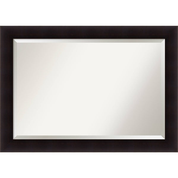 Bathroom Mirror Extra Large Portico Espresso 42 X 30 Inch Brown