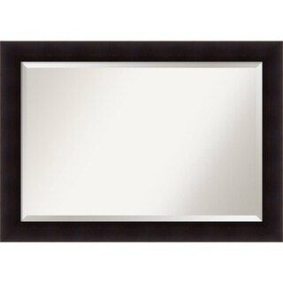 Bathroom Mirror Extra Large, Portico Espresso 42 x 30-inch
