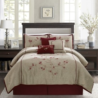 Miki Embroidered Luxury 7-piece Comforter Set