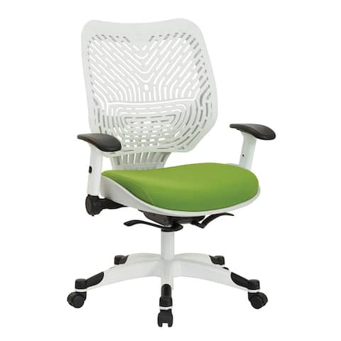 Office Star Products Space Seating White Self Adjusting SpaceFlex Back Manager's Chair