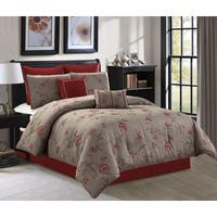 Chelsea Floral Embroidered 8-piece Luxury Comforter Set