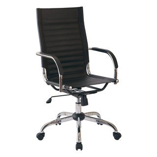Trinidad Chrome Finish Metal/Fabric High-back Office Chairic