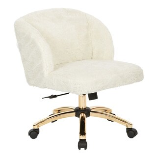 Ave Six Ellen Office Chair In Cream Fabric