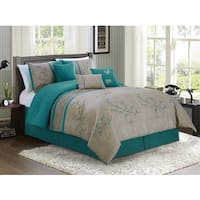 Noriko Embroidered Luxury 7-piece Comforter Set