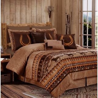 Sedona Western Microsuede 7 Piece Comforter set