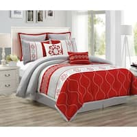 Landon Embroidered Luxury 8 Piece quilted Comforter Set