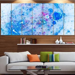 Designart 'Blue Fractal Planet of Bubbles' Abstract Wall Art Canvas