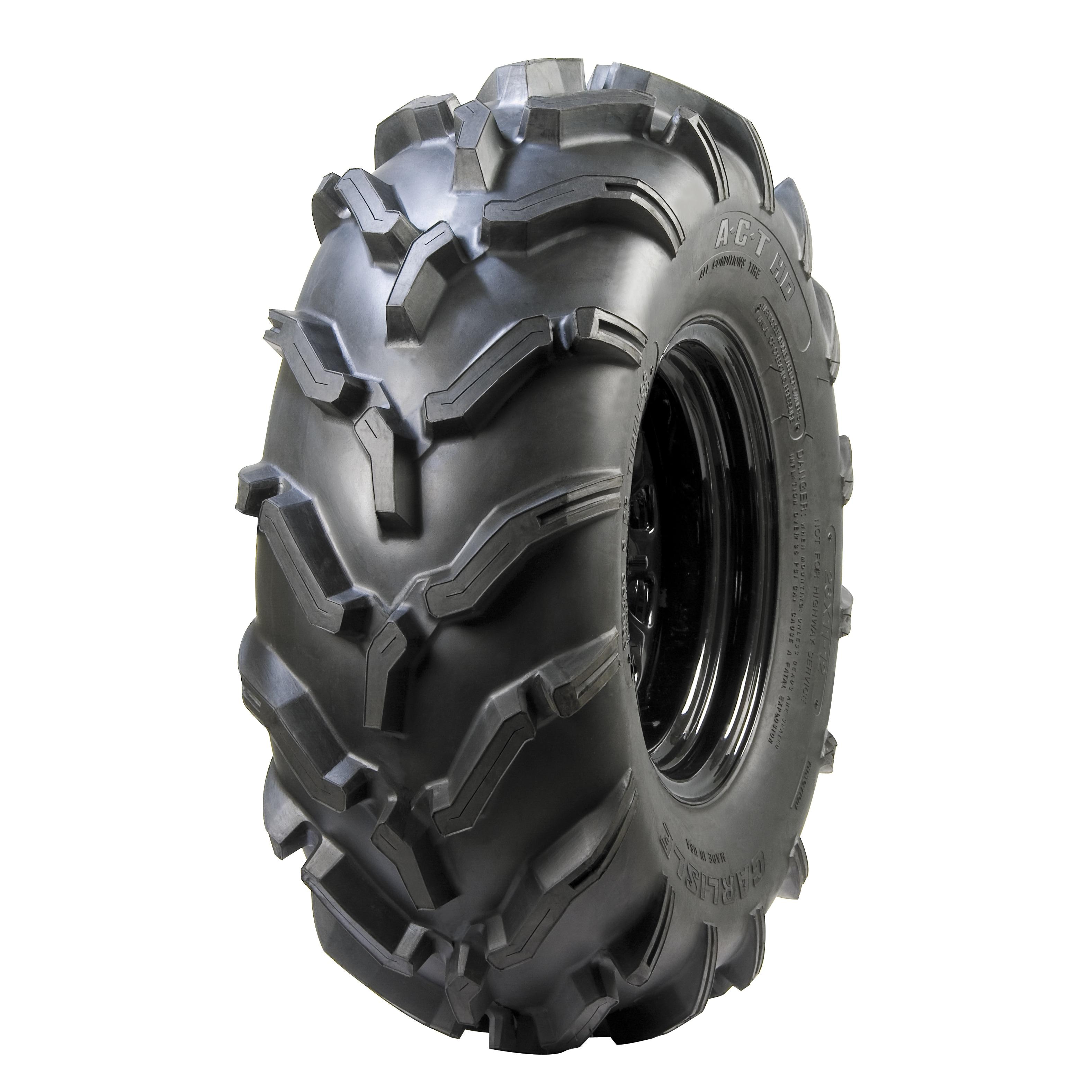Carlisle A.C.T. HD ATV Tire - 25X800R12 LRC/6 ply (Black)