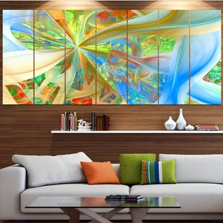 Designart 'Yellow Fractal Exotic Plant Stems' Abstract Wall Art on Canvas