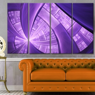 Designart 'Purple Fractal Exotic Plant Stems' Abstract Wall Art on Canvas