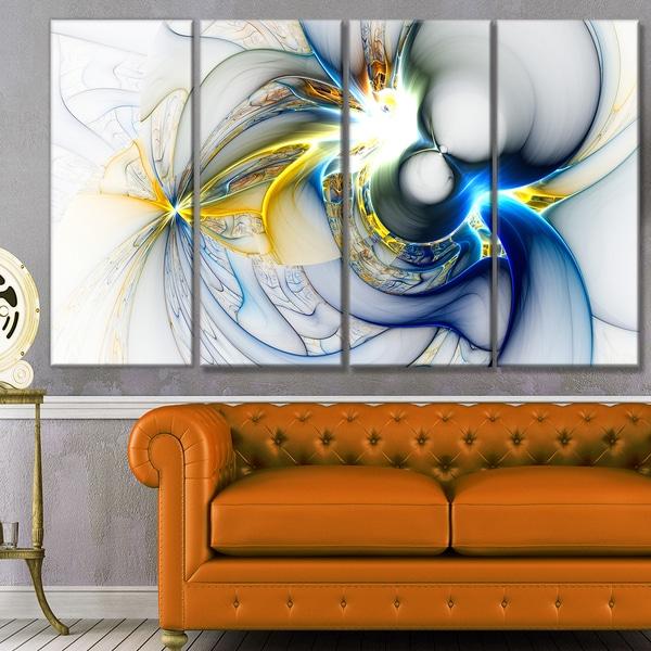 Designart 'Shining Multi-Colored Plasma' Abstract Wall Art Canvas