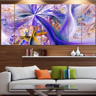 Designart 'Purple Yellow Fractal Curves' Abstract Wall Art Canvas Print