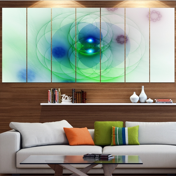 Designart 'Merge Colored Spheres.' Abstract Wall Art on Canvas