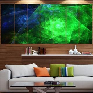 Designart 'Green Rotating Polyhedron' Abstract Wall Art on Canvas